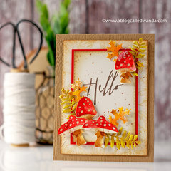 Hello Vintage Forest Card with Tim Holtz Supplies