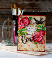 Vintage Rose Valentine Card