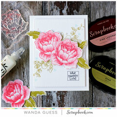 The Sweet Life - Card with Altenew/Scrapbook.com stamps!