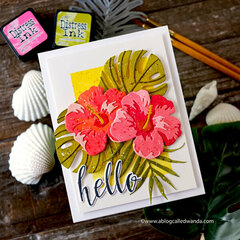 Altenew Hibiscus Garden Card with Distress Inks