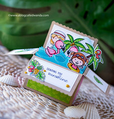 Tropical Pop Up Card!