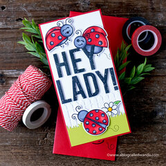 Hey Lady! Fun Ladybugs Card!