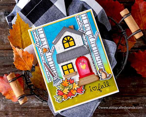 Autumn Farmhouse Card with Lawn Fawn Supplies!