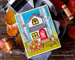 Autumn Farmhouse Card with Lawn Fawn Supplies!