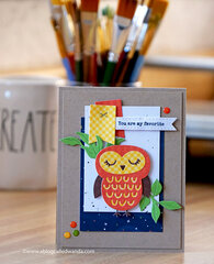 You are my Favorite! Happy Owl Card!