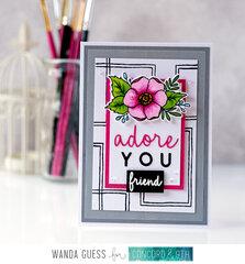 I adore You card!