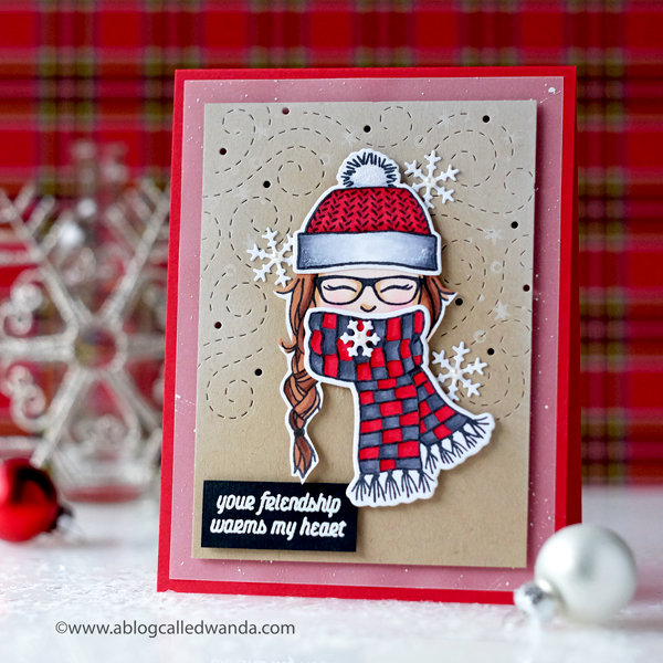 Your friendship warms my heart - winter card