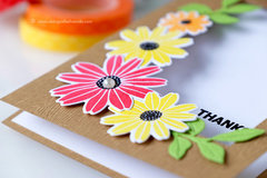 Happy Floral Card with Waffle Flower Stamps