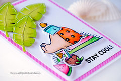 Summer Beach Bear! Waffle Flower Stamps and Dies