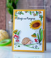 Hugs and Prayers Hedgehog Scene!