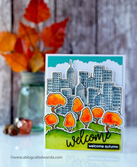 City Skyline in Autumn Card