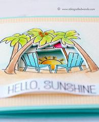 Art Impressions Seas the Day Tryfold Beach Card