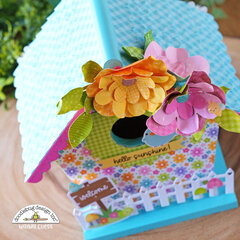 Spring Birdhouse with Doodlebug Fairy Garden Collection!