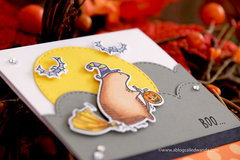 Waffle Flower Halloween Card