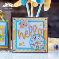 Busy Bees Party Ensemble! Favor Bag, Card and Pinwheels