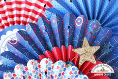 4th of July Paper Rosette Decorations!