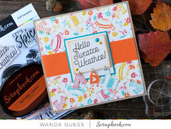 Hello Sweater Weather! Fall card!