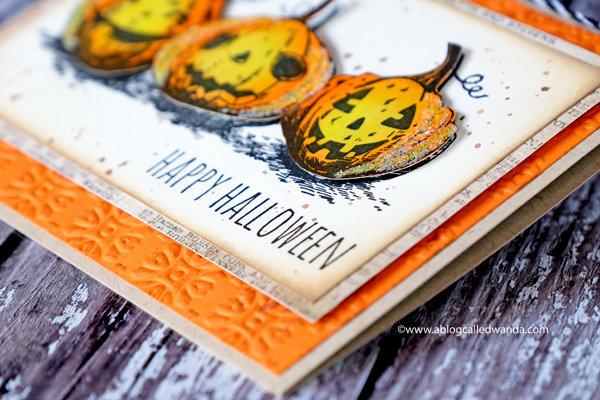 Halloween Card with Tim Holtz Supplies!
