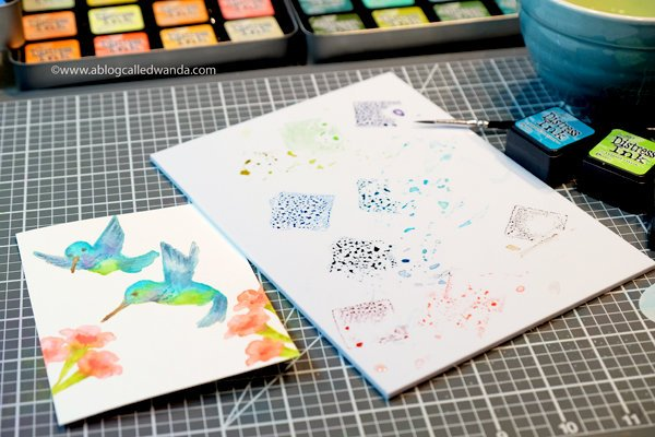 No Line Watercoloring - Hero Arts Hummingbirds