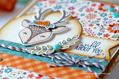 Wild About You Fall Deer Card!