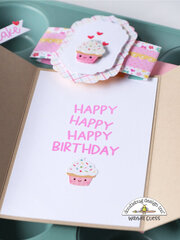 Doodlebug Birthday card, envelope and gift card holder