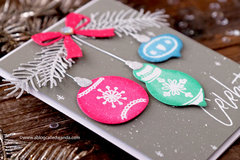 Pretty Pastel Ornaments from Right At Home Stamps