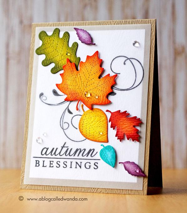 Rainbow Leaves Card
