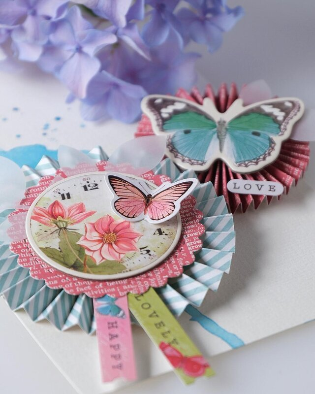 Pretty Package Rosettes with simple Stories