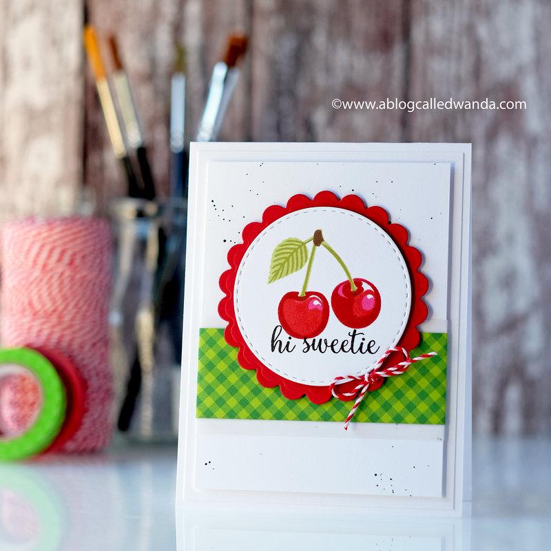 Hi Sweetie! Cheery Cherry Card!