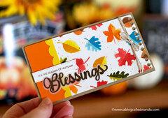 Fall Blessings slimline card
