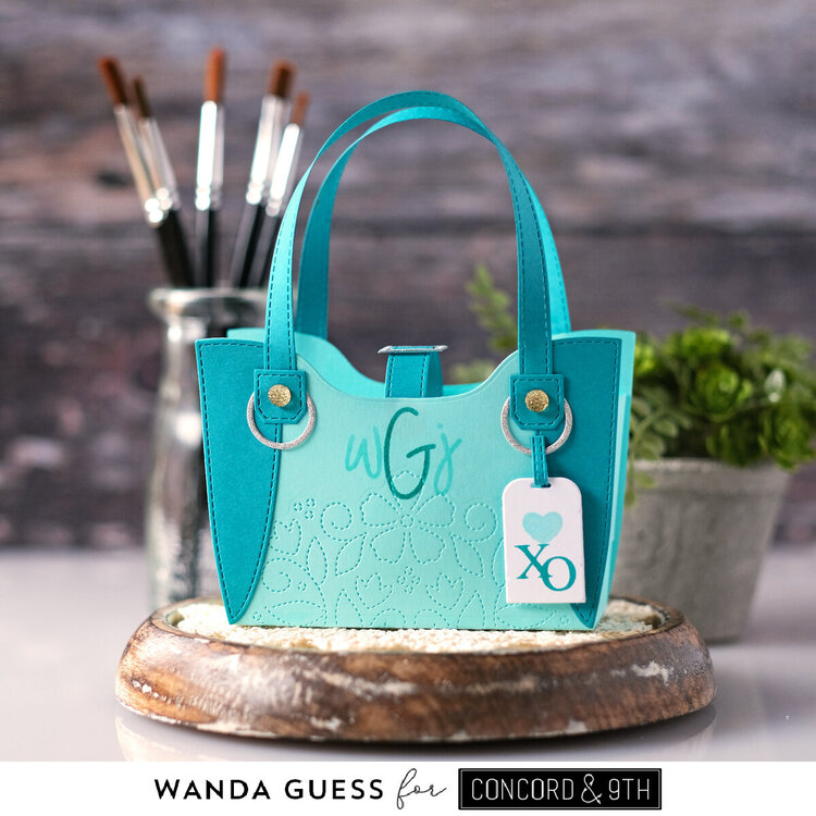 Monogrammed Paper Tote for gift giving!