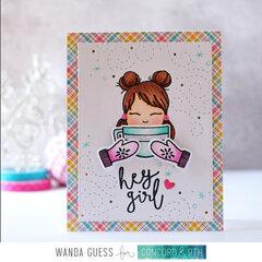 Hey Girl  - Winter cutie card