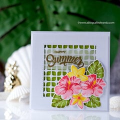 Hawaiian Flowers Card