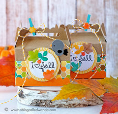 Fall Treat Boxes with Lawn Fawn and Doodlebug