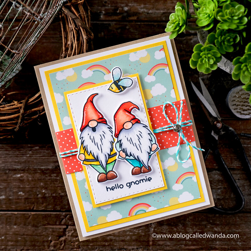 Hello Gnomie Card! With Photoplay supplies!