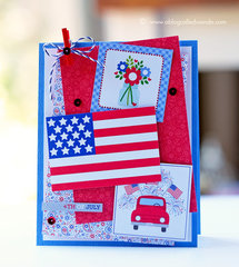 4th of July Card with Doodlebug Supplies!