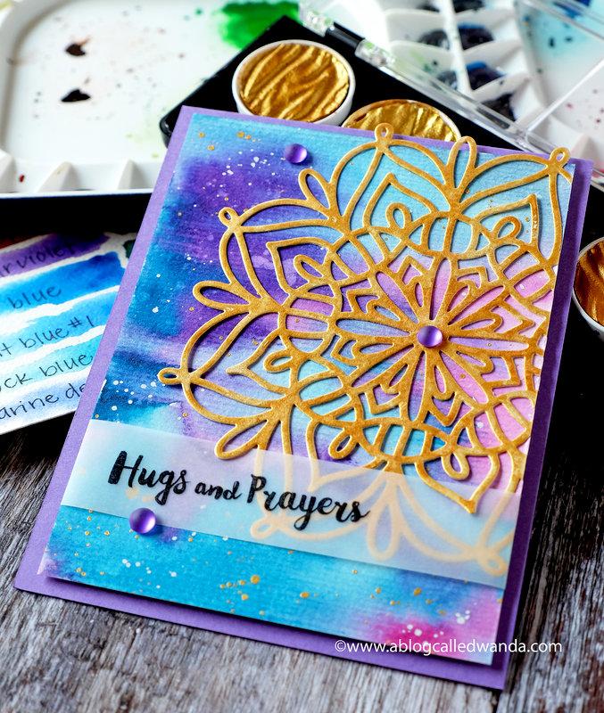 Hugs and Prayers Watercolor Card