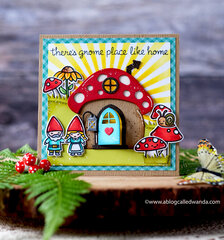 There's gnome place like home! Lawn Fawn Card!