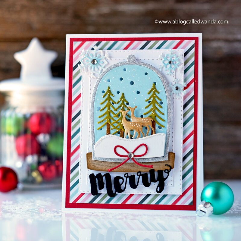 Merry Christmas Snowglobe Card!