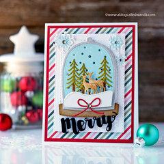 Merry Christmas Snowglobe Card!