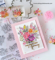 Spring bouquet card