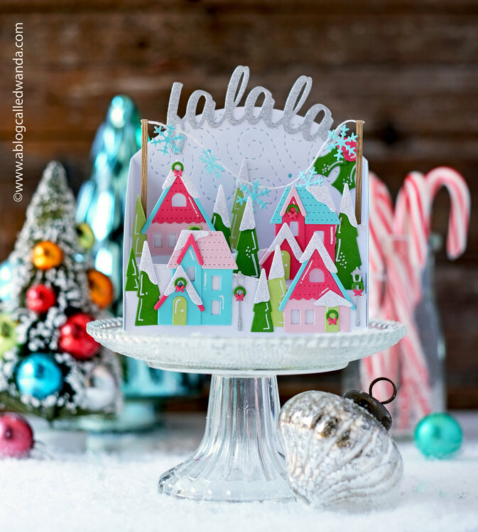 Pop Up Christmas Village Card!