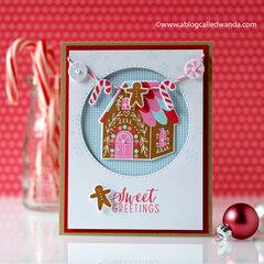 Sweet Gingerbread Greetings from Hero Arts!