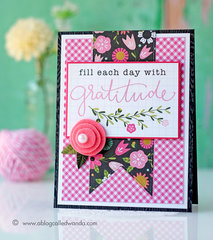 Gratitude Card with Pebbles Girl Squad Collection