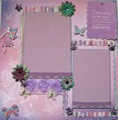 Dreams Premade Scrapbook page