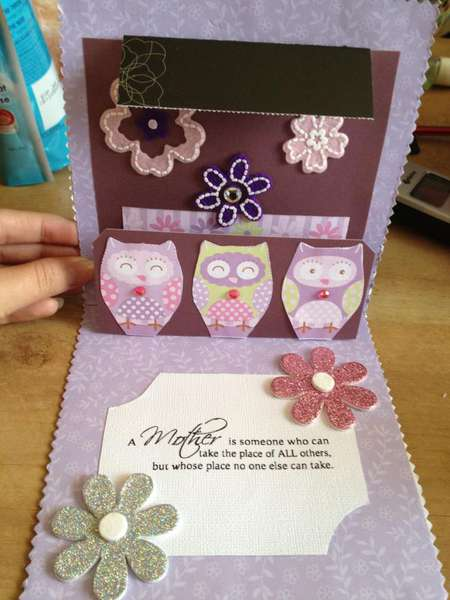 Mothers day pop up card for mother in law