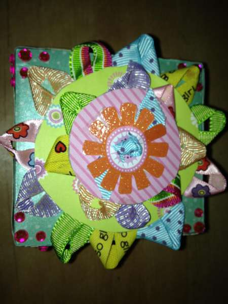 Lid of mothers day photo explosion box
