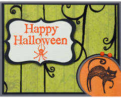Happy Halloween Cat Card - by Jennifer Brown