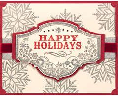 Happy Holidays Snowflake Card - by Jennifer