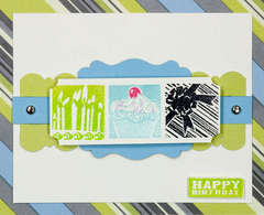 Inchies Happy Birthday Card - by Jennifer Brown